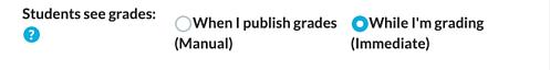 Publish Grades Option